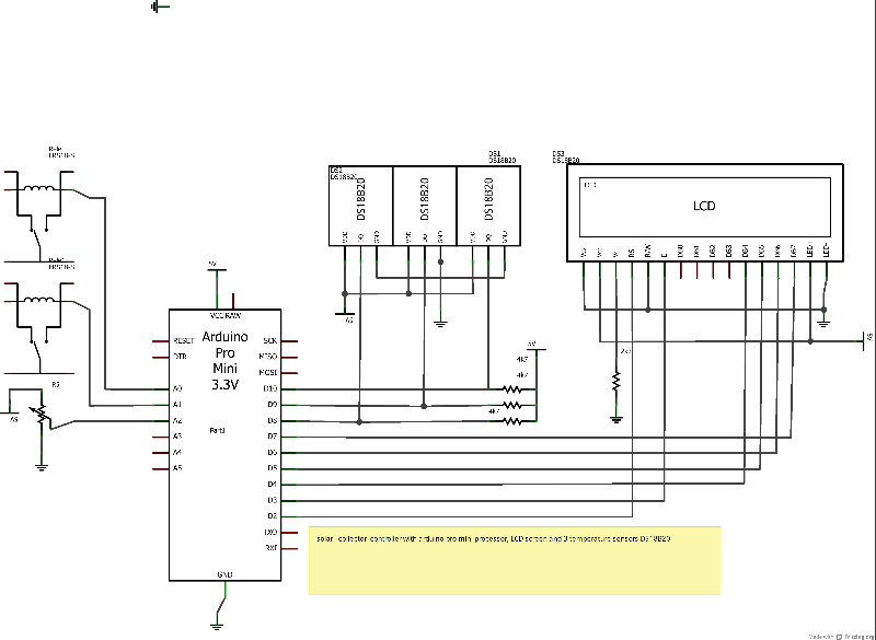 Solar collector controller and thermostat